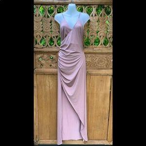Deadstock ANGEL BIBA Mocha High Split Dress SZ 12